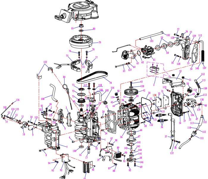 HIDEA variklio dalys